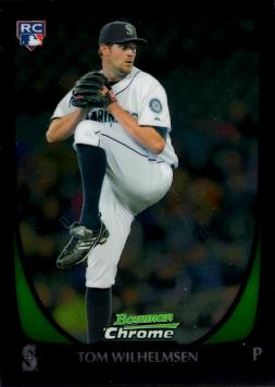 2011 Bowman Chrome Draft Tom Wilhelmsen Rookie Card