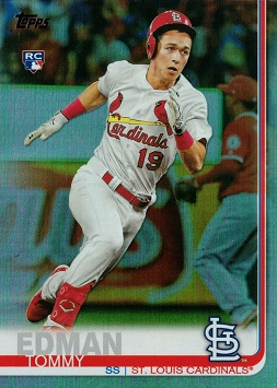 2019 Topps Update Rainbow Foil Baseball Tommy Edman Rookie Card
