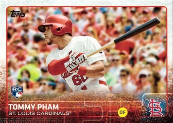 2015 Topps Update Baseball Tommy Pham Rookie Card