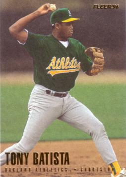 1996 Fleer Update Tony Batista Rookie Card