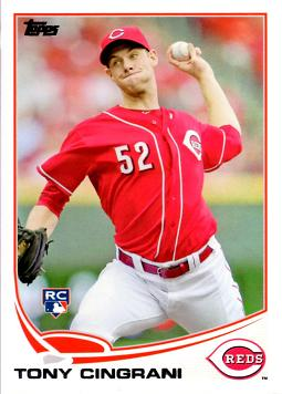 2013 Topps Tony Cingrani Rookie Card