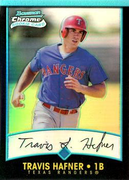 Travis Hafner Bowman Chrome Refractor Rookie Card