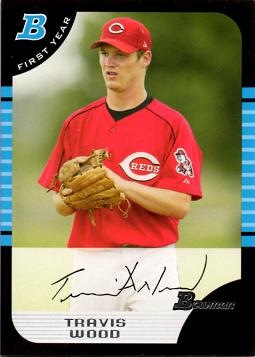 2005 Bowman Draft Picks Travis Wood Rookie Card
