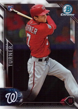 2016 Bowman Chrome Baseball Trea Turner Rookie Card