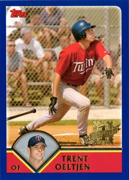 2003 Topps Traded Trent Oeltjen Rookie Card