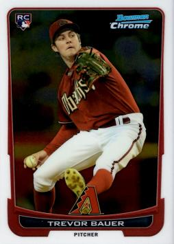 Trevor Bauer Bowman Chrome Rookie Card