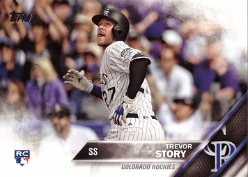 2016 Topps Update Baseball Trevor Story Rookie Card