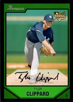 2007 Bowman Draft Picks Tyler Clippard Rookie Card