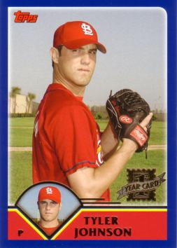 2003 Topps Traded Tyler Johnson Rookie Card