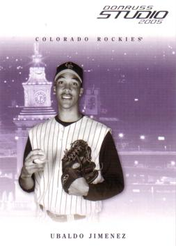 2004 Studio Ubaldo Jimenez Rookie Card