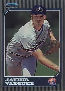 1997 Bowman Chrome Javier Vazquez Rookie Card