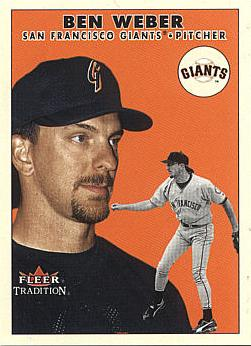 2000 Fleer Update Ben Weber Rookie Card