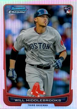 2012 Bowman Chrome Refractor Will Middlebrooks Rookie Card