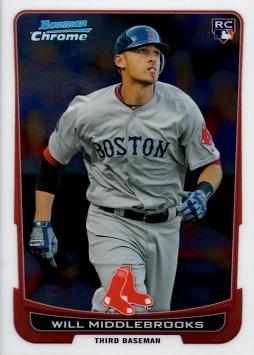 Will Middlebrooks Bowman Chrome Rookie Card