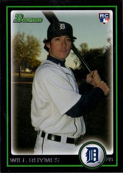 2010 Bowman Draft Picks Will Rhymes Rookie Card