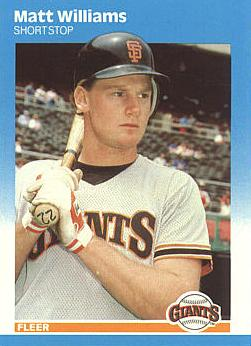 Matt Williams Rookie Card