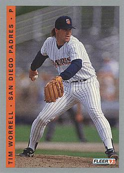 1993 Fleer Final Edition Tim Worrell Rookie Card