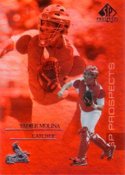 2004 Upper Deck SP Top Prospects Yadier Molina Rookie Card