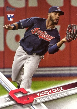 2017 Topps Update Baseball Yandy Diaz Rookie Card