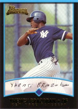 2001 Bowman Yhency Brazoban Rookie Card