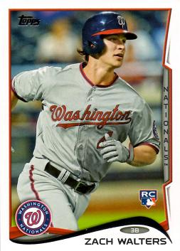 2014 Topps Baseball Zach Walters Rookie Card