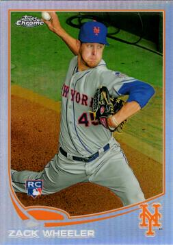 Zack Wheeler Topps Chrome Refractor Rookie Card