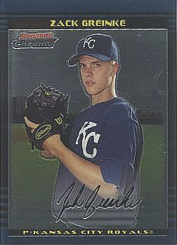 2002 Bowman Chrome Draft Zack Greinke Rookie Card