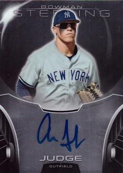 Aaron Judge Autograph Card
