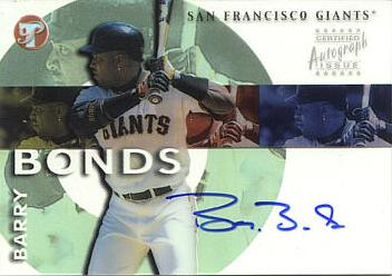 Barry Bonds Authentic Autograph Card