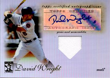 David Wright Authentic Autograph Jersey Card