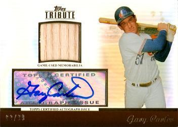 Gary Carter Autographed Bat Card