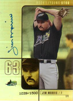 Jim Morris Certified Autograph Card