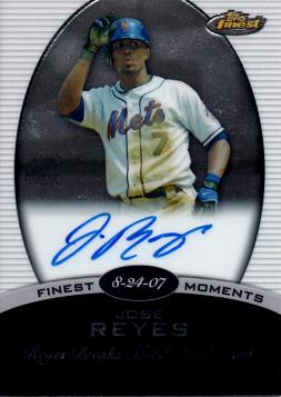 Jose Reyes Authentic Autograph Card