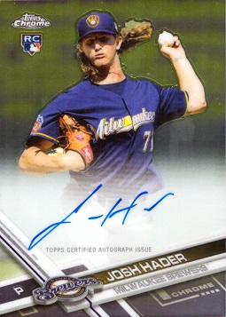 Josh Hader Certified Autograph Rookie Card