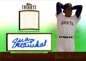 Juan Marichal Authentic Autograph Jersey Card