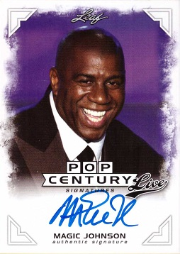 Magic Johnson Certified Autograph Card