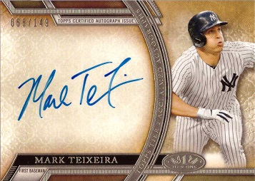 Mark Teixeira Autograph Card