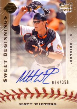 Matt Wieters Autograph Baseball Rookie Card