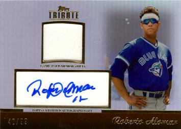 Roberto Alomar Certified Autograph Jersey Card