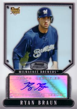 Ryan Braun Authentic Autograph Card