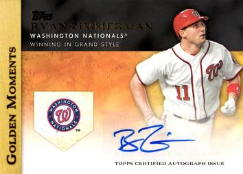 Ryan Zimmerman Certiffied Autograph Baseball Card