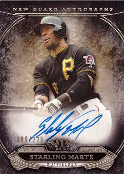 2015 Topps Tier One Starling Marte Certified Autograph Baseball Card