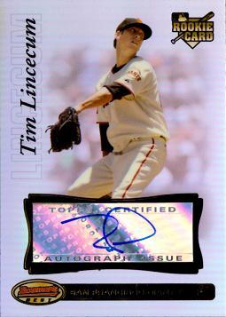 Tim Lincecum Authentic Autograph Rookie Card