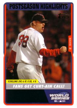 Curt Schilling Bloody Sock Card