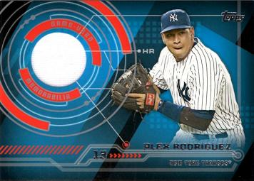 Alex Rodriguez Game Worn Jersey Card