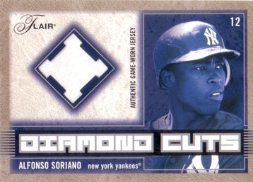 Alfonso Soriano Game Worn Jersey Card