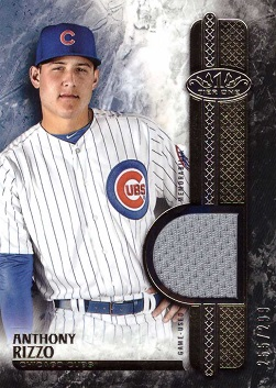 2016 Topps Tier One Relics Anthony Rizzo Game Worn Jersey Baseball Card
