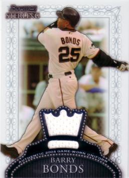 Barry Bonds Game Worn Jersey Card