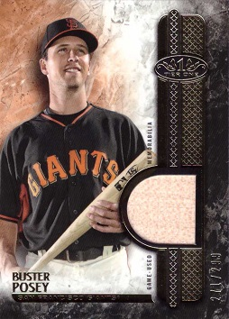 2016 Topps Relics Buster Posey Game Used Bat Baseball Card