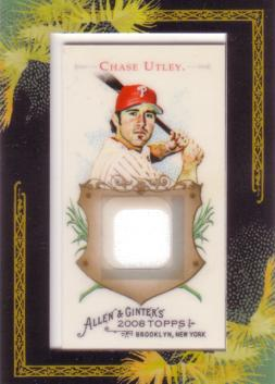 Chase Utley Game Worn Jersey Card
